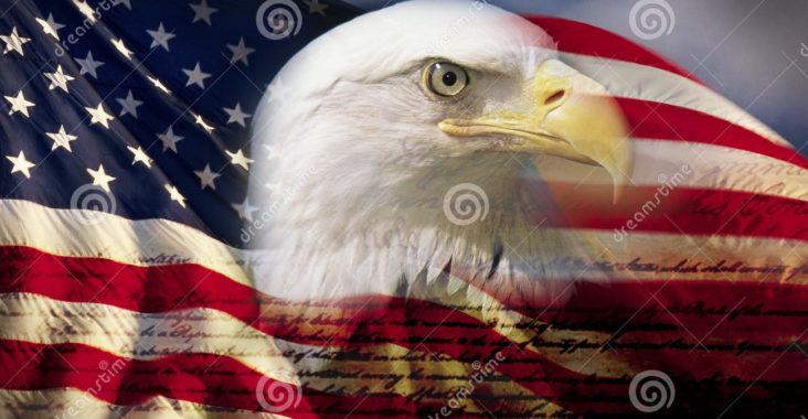 compos-de-digital-l-aigle-chauve-et-le-drapeau-amricains-est-t-la-base-avec-l-criture-de-la-constitution-des-usa-52319230